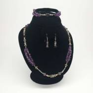 Amethyst Delta Jewelry Set