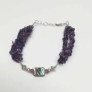 Amethyst Delta Bracelet