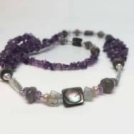 Amethyst Delta Necklace Close-up